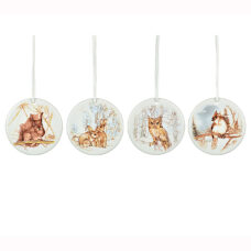 Disc Ornament - Animal Scene
