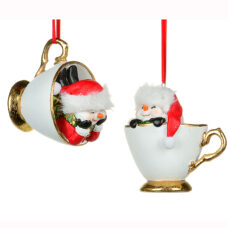 Snowman in Teacup Ornament