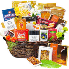 A Cut Above Deluxe Gourmet Cheese Basket
