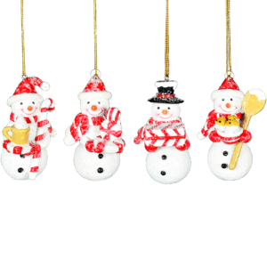 Snowman with Candy Ornament